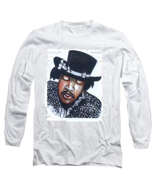 Long Sleeve T-Shirt featuring the painting Jimi Hendrix by Emmanuel Baliyanga