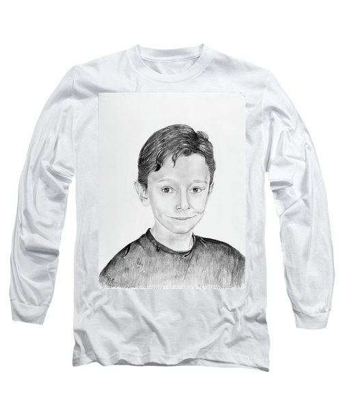 Long Sleeve T-Shirt featuring the drawing Jimmy by Mayhem Mediums