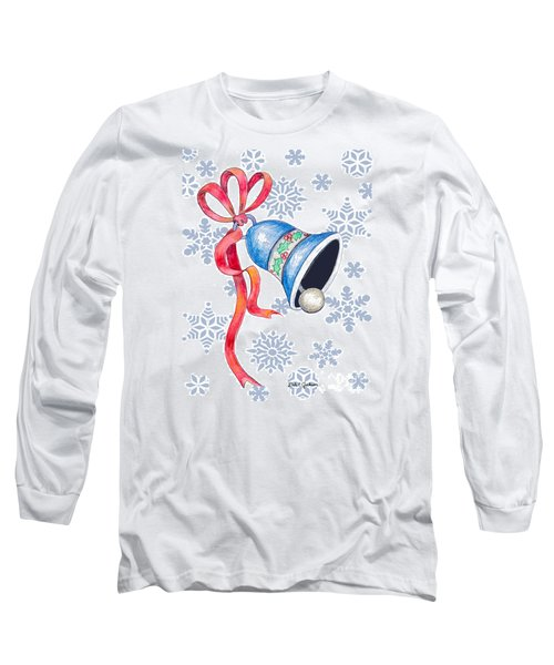 Jingle Bells And Snowflakes On Christmas Day Long Sleeve T-Shirt