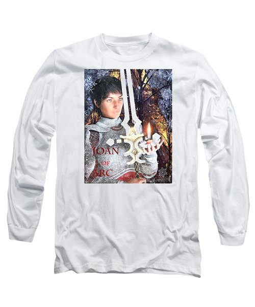 Long Sleeve T-Shirt featuring the painting Joan Of Arc Poster 2 by Suzanne Silvir