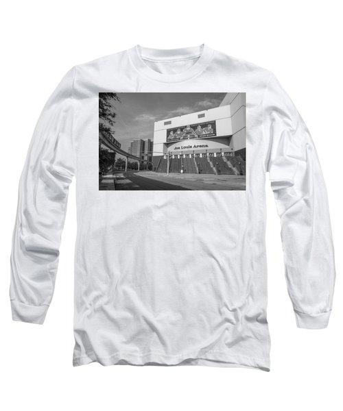Joe Louis Arena Black And White  Long Sleeve T-Shirt