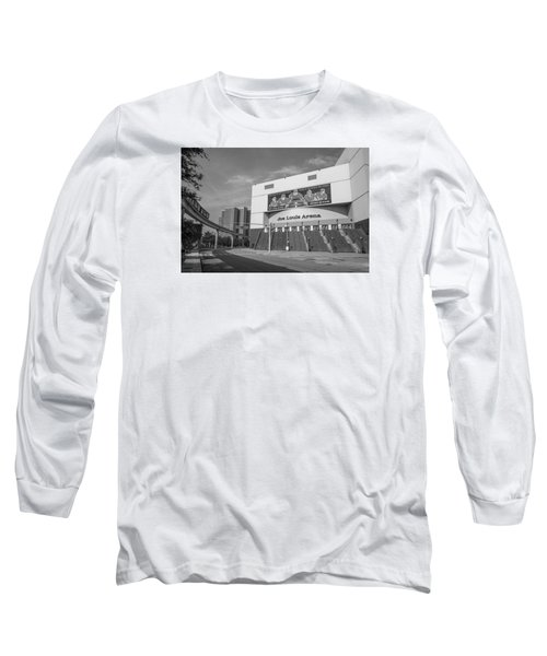 Joe Louis Arena Black And White  Long Sleeve T-Shirt