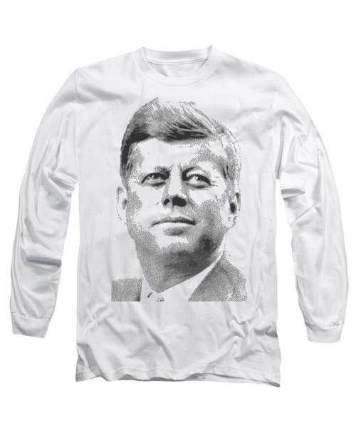 John Fitzgerald Kennedy - Cross Hatching Long Sleeve T-Shirt