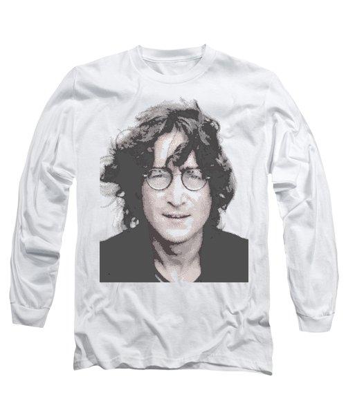 John Lennon - Parallel Hatching Long Sleeve T-Shirt