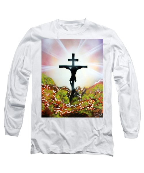 Long Sleeve T-Shirt featuring the painting John Three Sixteen by Greg Moores