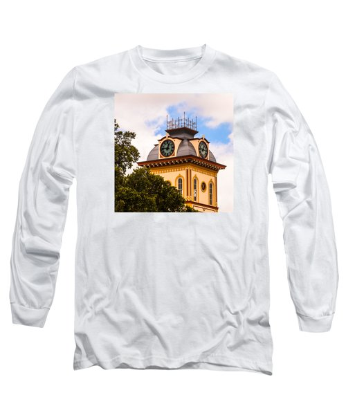 John W. Hargis Hall Clock Tower Long Sleeve T-Shirt