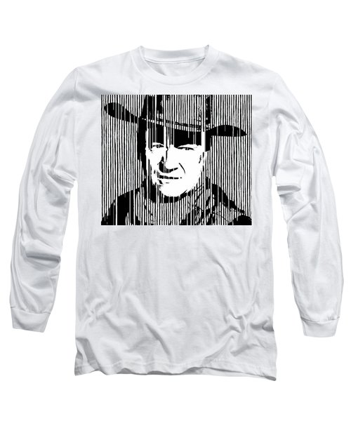 John Wayne Cowboy Huge Print Long Sleeve T-Shirt