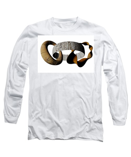 Long Sleeve T-Shirt featuring the sculpture Join Circles by R Muirhead Art