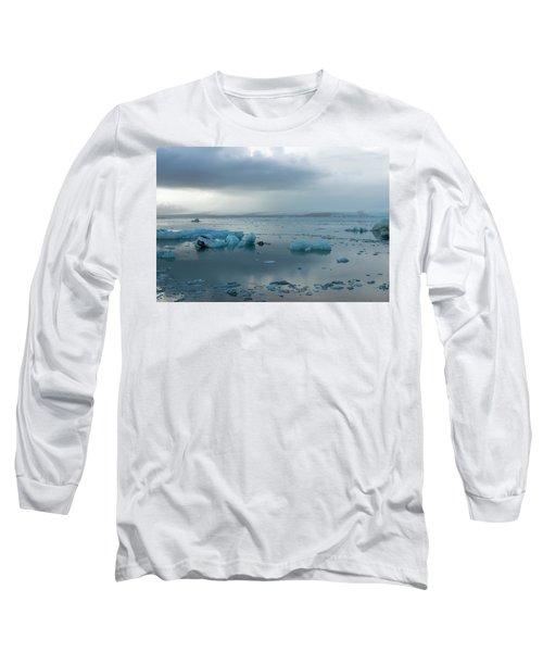 Long Sleeve T-Shirt featuring the photograph Jokulsarlon, The Glacier Lagoon, Iceland 1 by Dubi Roman