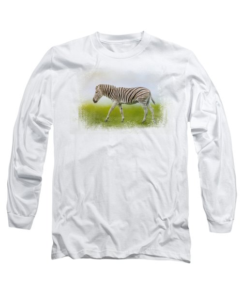 Journey Of The Zebra Long Sleeve T-Shirt by Jai Johnson