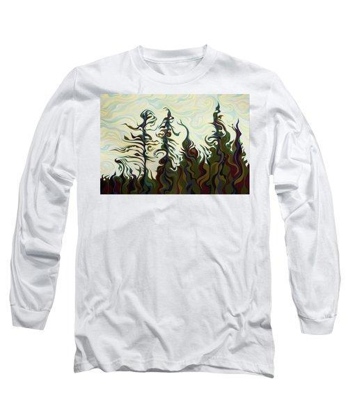 Joyful Pines, Whispering Lines Long Sleeve T-Shirt