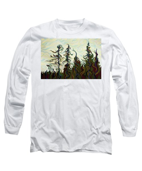 Joyful Pines, Whispering Lines Long Sleeve T-Shirt