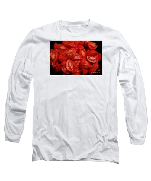 Long Sleeve T-Shirt featuring the photograph Juicy Tomatoes by Jeanette French