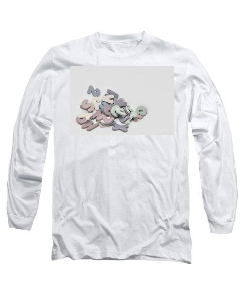 Jumbled Letters Long Sleeve T-Shirt
