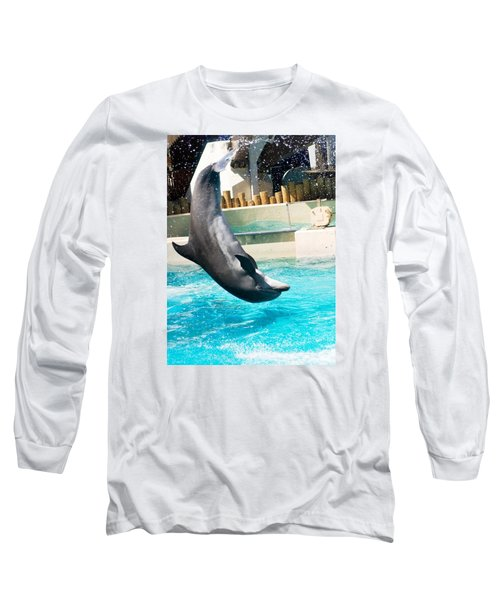 Jumping Dolphin Long Sleeve T-Shirt by Bob Pardue