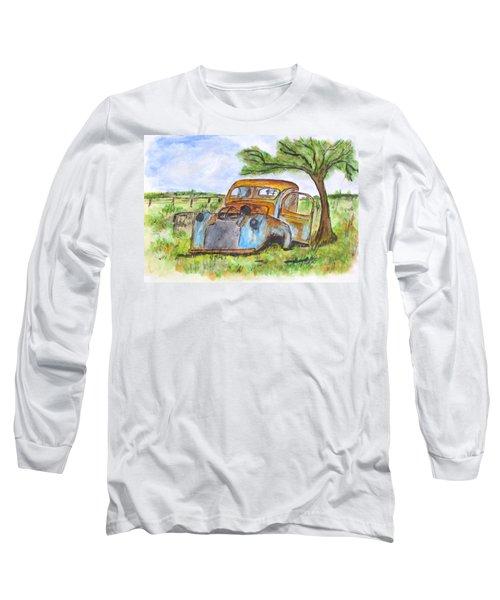 Junk Car And Tree Long Sleeve T-Shirt