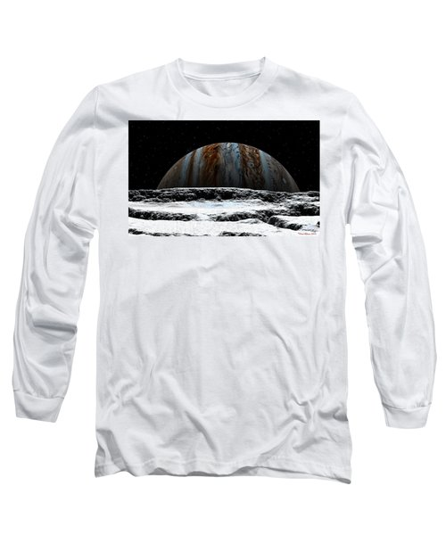 Jupiter Rise At Europa Long Sleeve T-Shirt