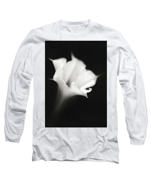 Long Sleeve T-Shirt featuring the photograph Just A White Flower by Eduard Moldoveanu