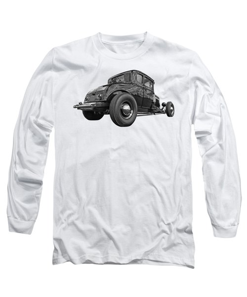 Just Chillin' - Black And White Long Sleeve T-Shirt