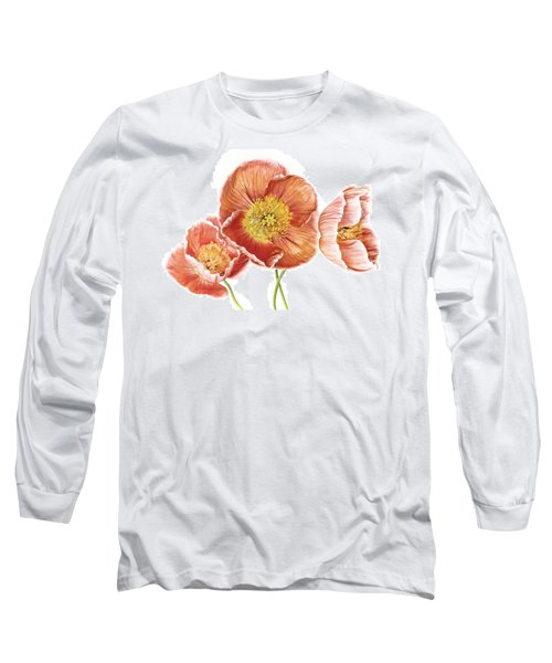 Just Peachy Poppies Long Sleeve T-Shirt