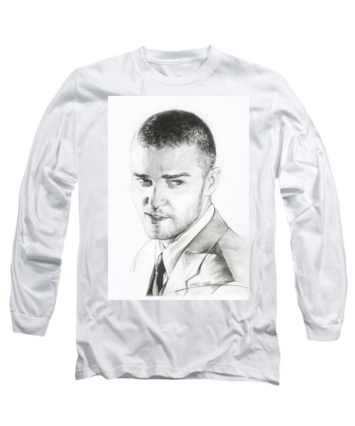 Justin Timberlake Drawing Long Sleeve T-Shirt