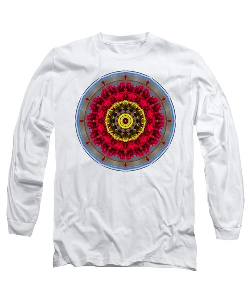 Long Sleeve T-Shirt featuring the photograph Kaleidos - Nantucket Rose01 by Jack Torcello