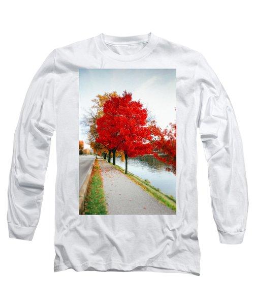 Kanawha Boulevard In Autumn Long Sleeve T-Shirt by Shane Holsclaw