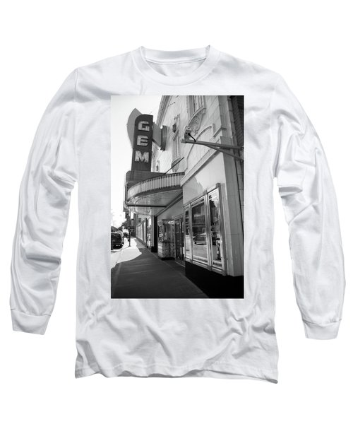 Long Sleeve T-Shirt featuring the photograph Kansas City - Gem Theater 2 Bw  by Frank Romeo