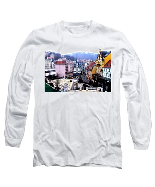 Long Sleeve T-Shirt featuring the photograph Karlovy Vary Cz by Michelle Dallocchio