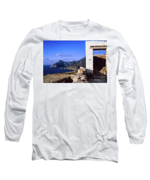 Long Sleeve T-Shirt featuring the photograph Karpathos Island Greece by Silvia Ganora
