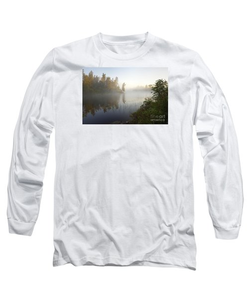 Long Sleeve T-Shirt featuring the photograph Kawishiwi Morning Fog by Larry Ricker
