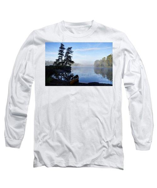 Kawishiwi Morning Long Sleeve T-Shirt by Larry Ricker