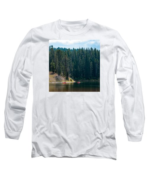 Kayakers Long Sleeve T-Shirt by Cathy Donohoue