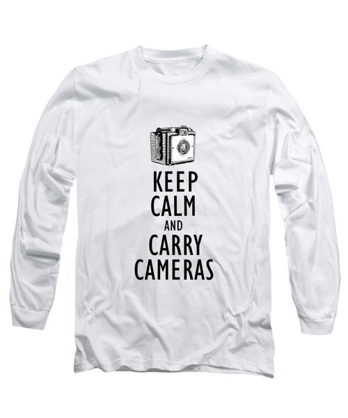 Keep Calm And Carry Cameras Phone Case Long Sleeve T-Shirt