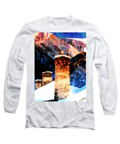 Long Sleeve T-Shirt featuring the photograph Keeper Of The Light Adishi Svaneti by Anastasia Savage Ealy