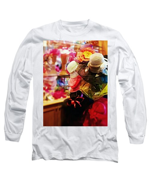 kentucky Derby Hats Long Sleeve T-Shirt by Robin Regan