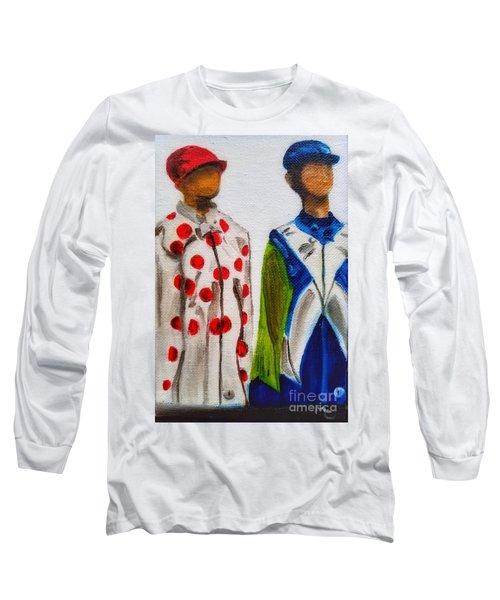 Kentucky Derby Jockey Mannequins Long Sleeve T-Shirt