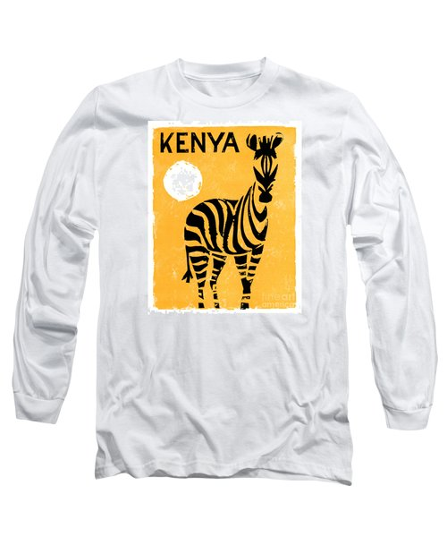 Kenya Africa Vintage Travel Poster Restored Long Sleeve T-Shirt