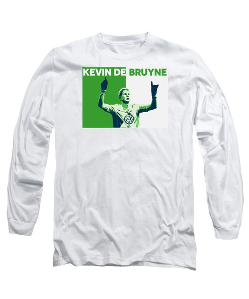 Kevin De Bruyne Long Sleeve T-Shirt by Semih Yurdabak