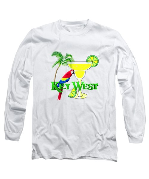 Key West Margarita Long Sleeve T-Shirt by Chris MacDonald