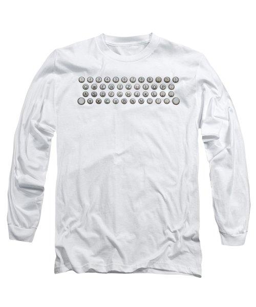 Keyboard Of Old Typewriter Long Sleeve T-Shirt