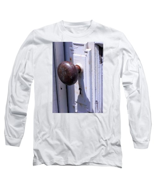 Long Sleeve T-Shirt featuring the photograph Keyhole by Steve Godleski