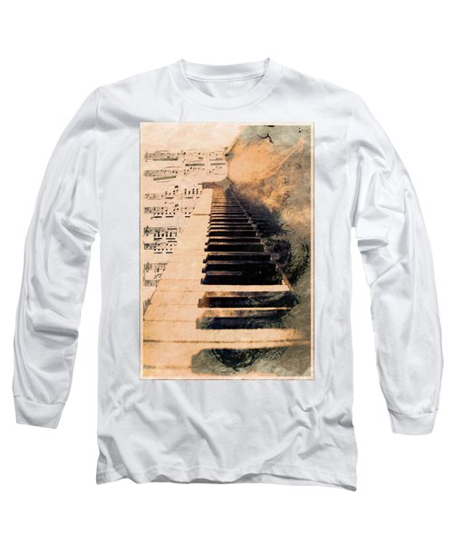Long Sleeve T-Shirt featuring the mixed media Keys To Greatness  by Aaron Berg