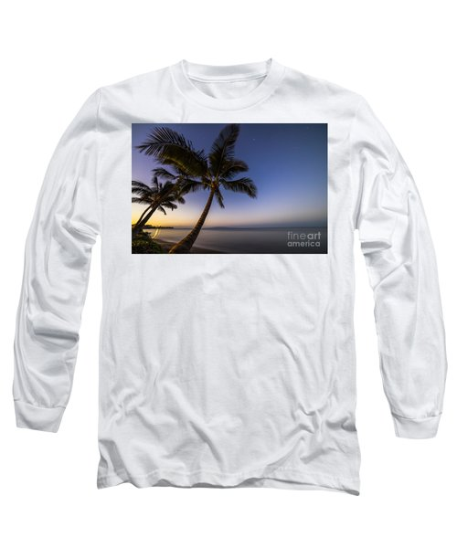 Kihei Maui Hawaii Palm Tree Sunrise Long Sleeve T-Shirt