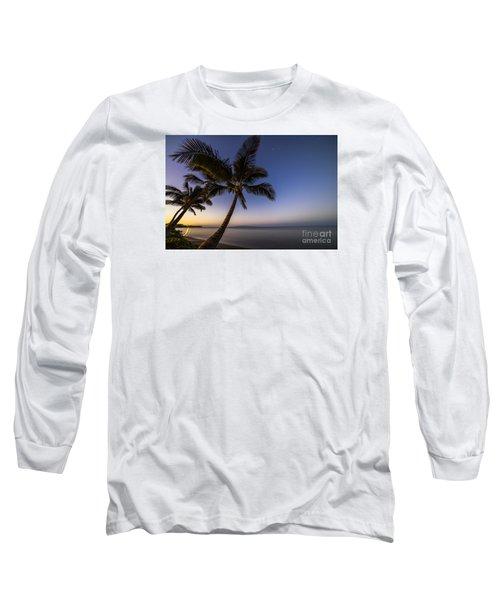 Kihei Maui Hawaii Palm Tree Sunrise Long Sleeve T-Shirt