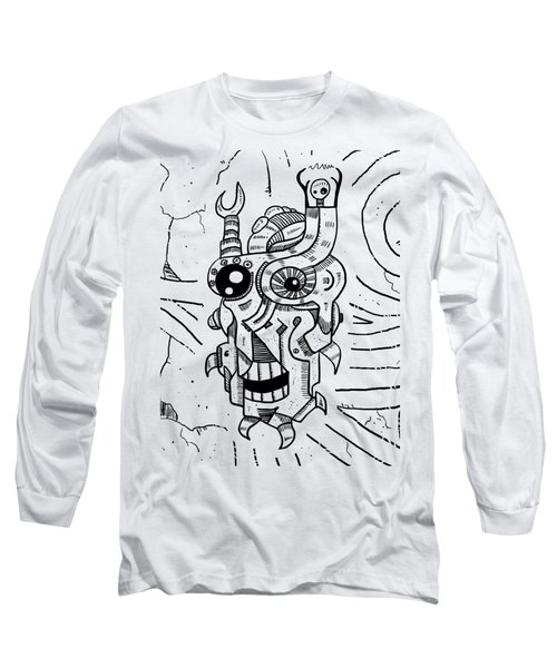 Killer Robot Long Sleeve T-Shirt by Sotuland Art