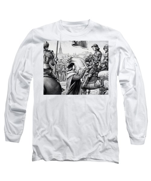King Henry Vii Long Sleeve T-Shirt by Pat Nicolle