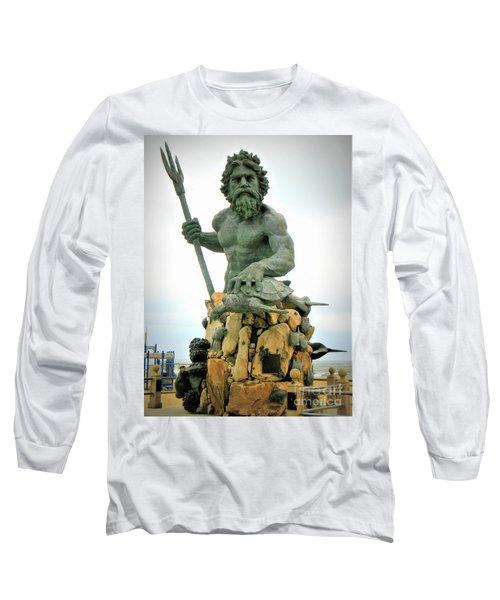 King Neptune Statue Long Sleeve T-Shirt