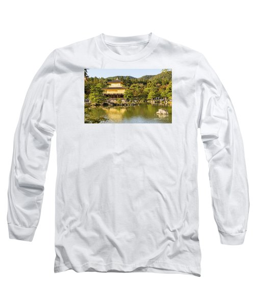 Long Sleeve T-Shirt featuring the photograph Kinkakuji by Pravine Chester