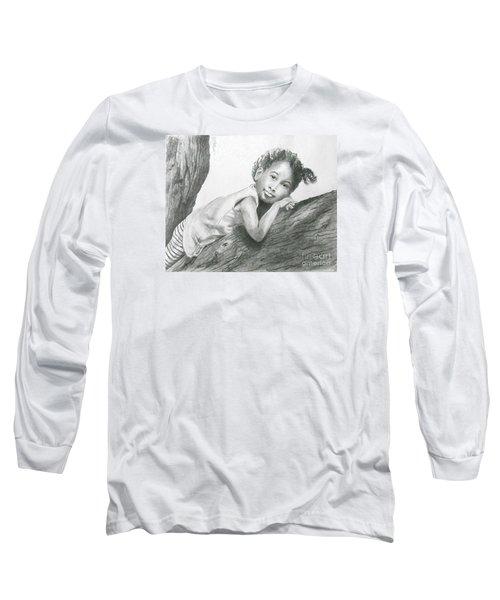 Kirikou, Dreaming -- Portrait Of Little African-american Girl Long Sleeve T-Shirt
